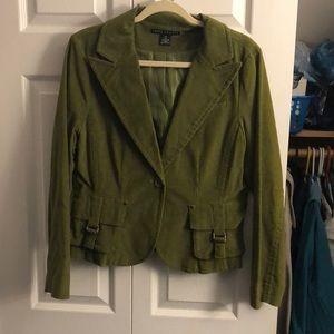 Cord green blazer